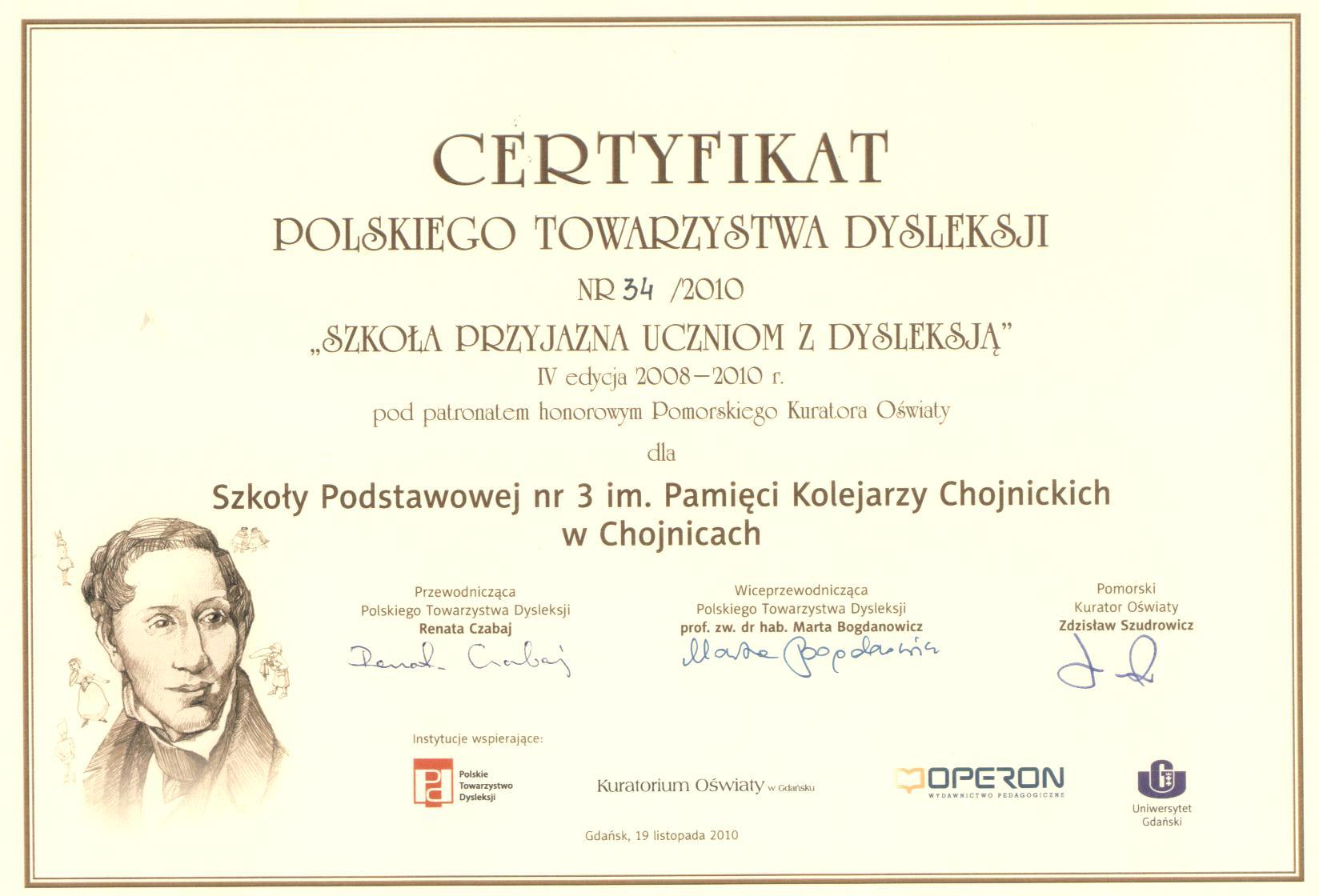 certyfikat 2010